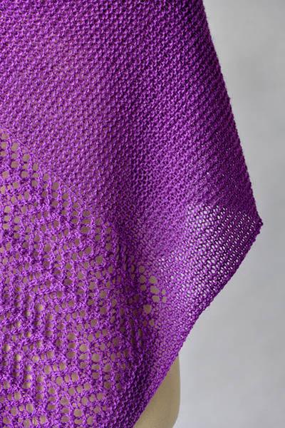 Free Knitting Pattern for a Herringbone Lace Shawl
