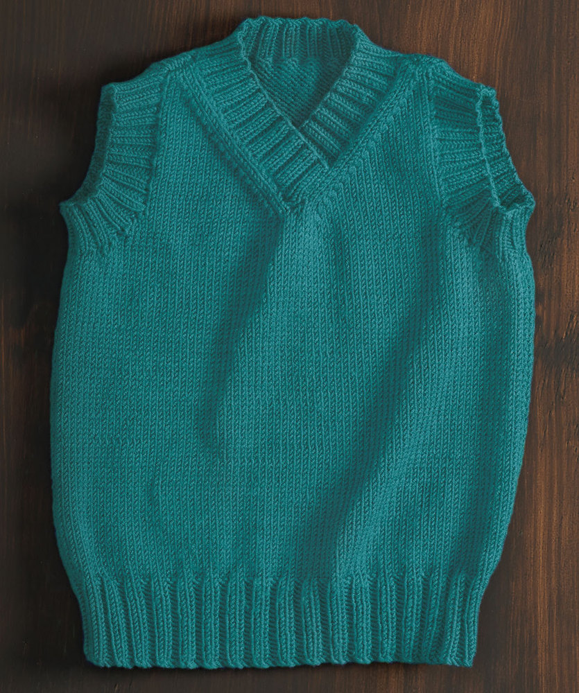 Free Knitting Pattern for a Kid's Classic Vest
