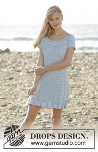 Free Knitting Pattern for a Lace Chevron Dress for Summer