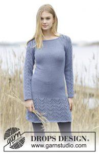 Free Knitting Pattern for a Lace Dress