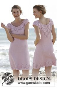 Free Knitting Pattern for a Lace Dress Beach Date