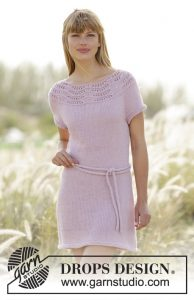 Free Knitting Pattern for a Lace Dress Cornelia