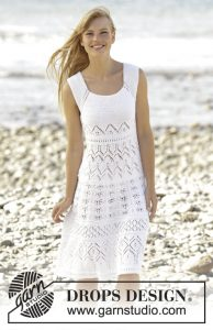 Free Knitting Pattern for a Lace Dress Mallorca