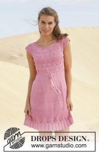 Free Knitting Pattern for a Lace Dress Yours Truly