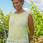 Free Knitting Pattern for a Lace Edge Top