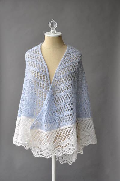 Free Knitting Pattern For A Lace Featherdown Shawl Knitting Bee