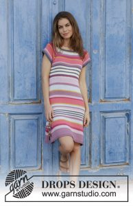 Free knitting pattern for a striped dress