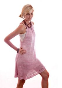Free Knitting Pattern for a Lazy Days Beach Dress
