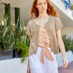 Free Knitting Pattern for a Malibu Bolero