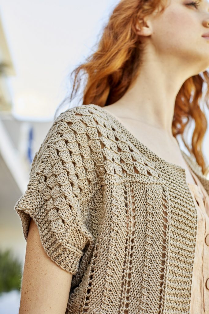 Free Knitting Pattern for a Malibu Bolero ⋆ Knitting Bee