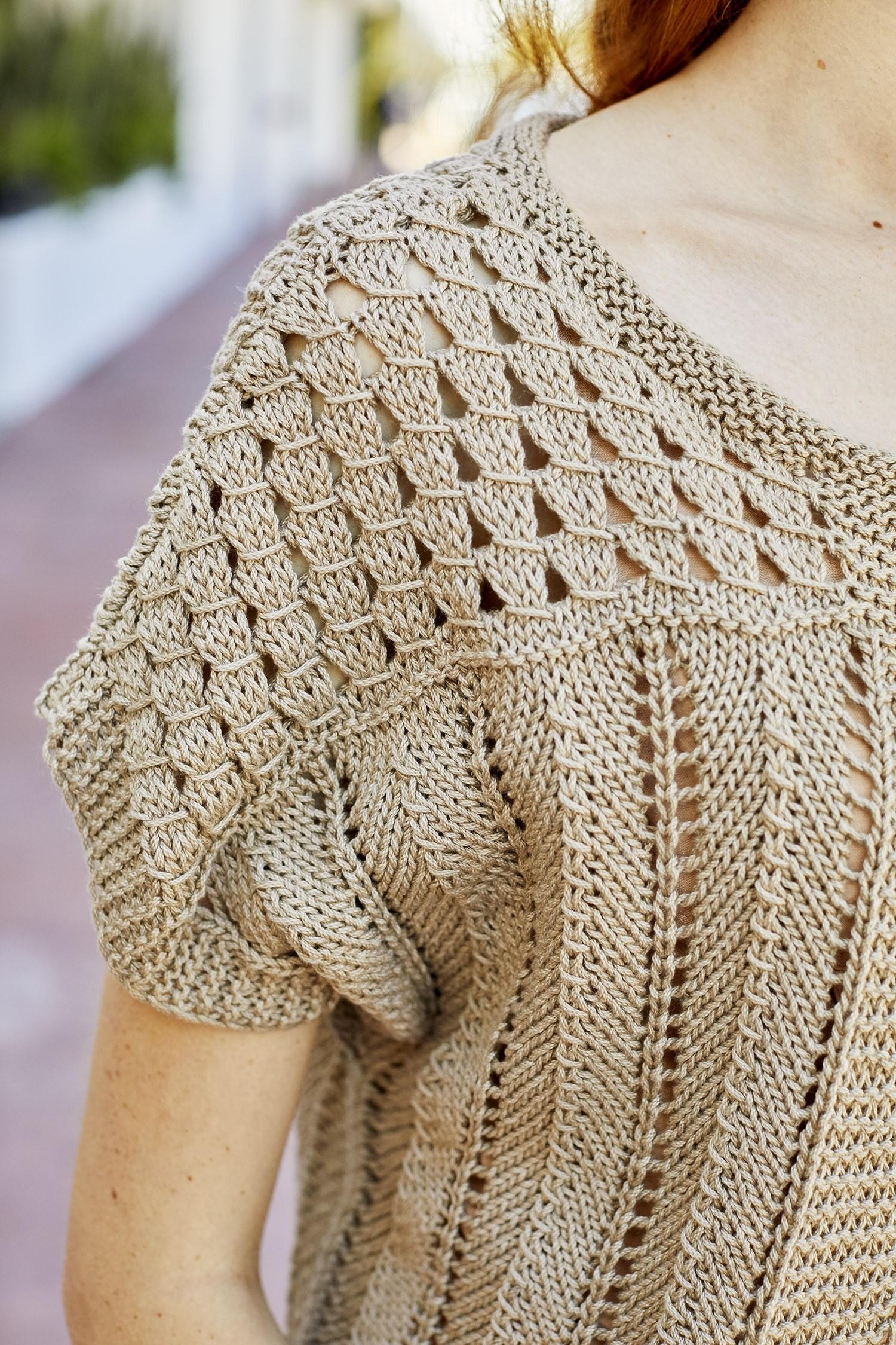 Free Knitting Pattern for a Malibu Bolero v4 ⋆ Knitting Bee