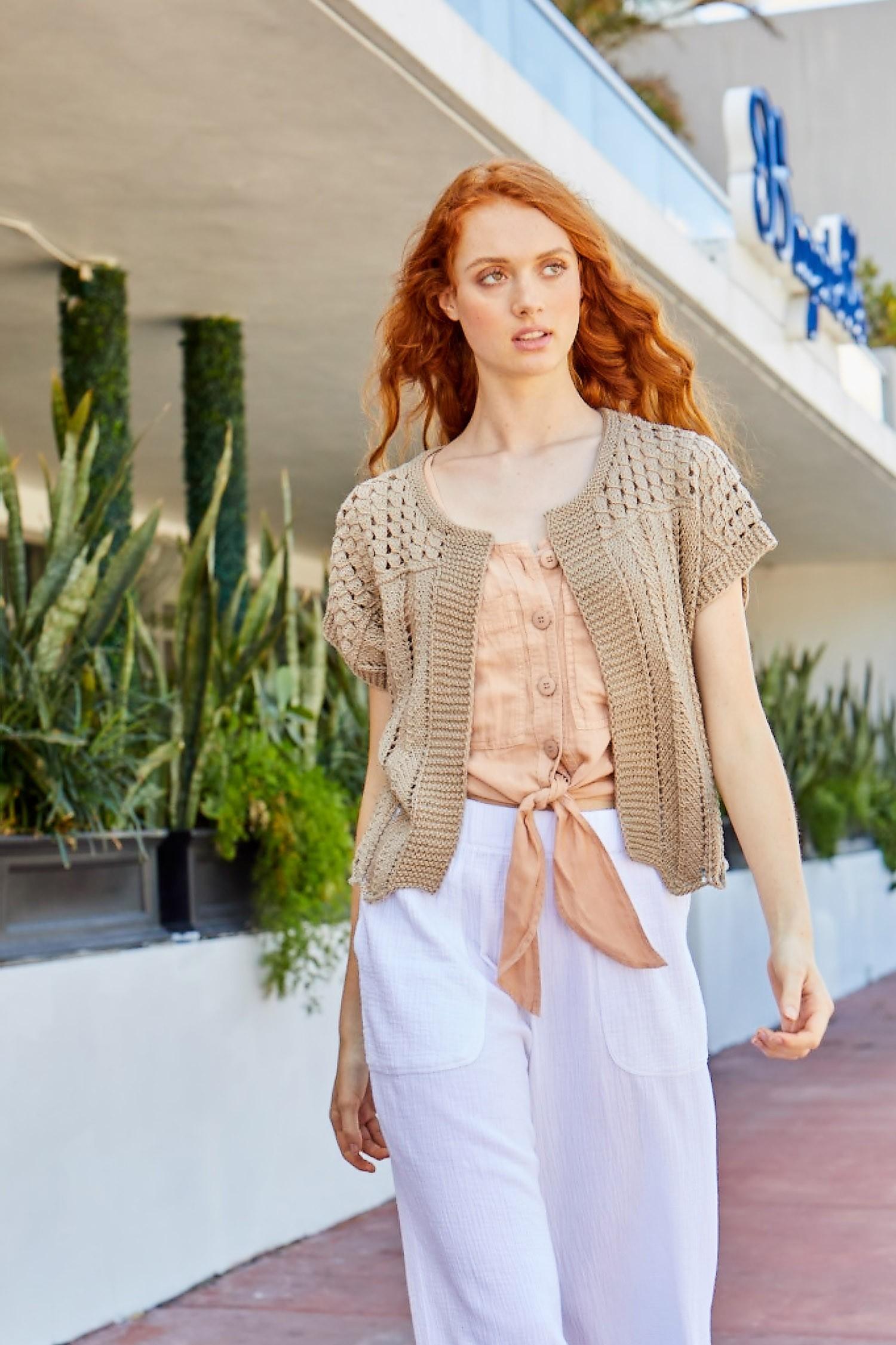 Free Knitting Pattern for a Malibu Bolero ⋆ Knitting Bee