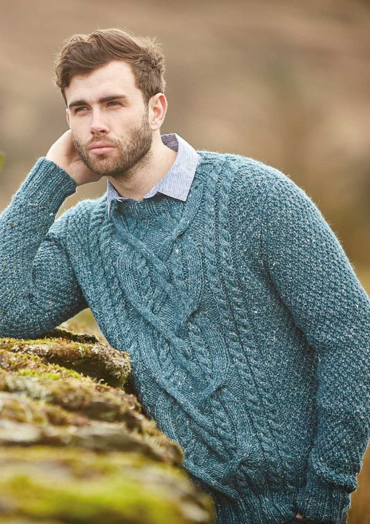 24 Mens Cable Knit Sweater Pattern Free Knitting Bee