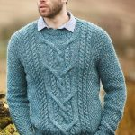 Free Knitting Pattern for a Men's Cabled Sweater Cole