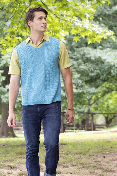 Free Knitting Pattern for a Men's TNNA Vest