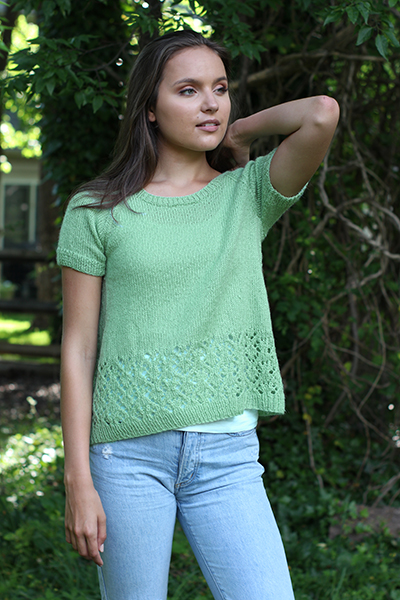 Free Knitting Pattern For A Miss Molly Lace Tee Knitting Bee