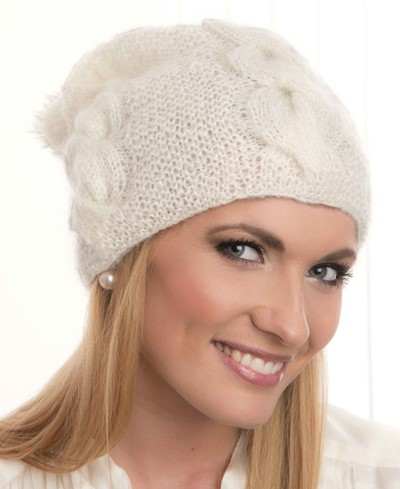 Free Knitting Pattern for a Mohair Cable Hat