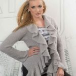 Free Knitting Pattern for a Mohair Ruffled Cardigan