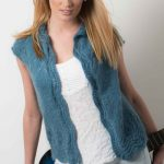 Free Knitting Pattern for a Mohair Vest with Ripple Stitch Edge