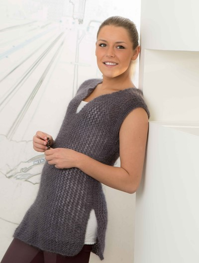 Free Knitting Pattern for a Mohair Vest