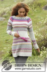 Free Knitting Pattern for a Multi-colored Dress