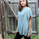 Free Knitting Pattern for a Pathways Poncho