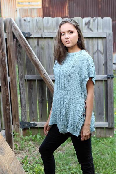 Free free textured poncho knitting patterns Patterns