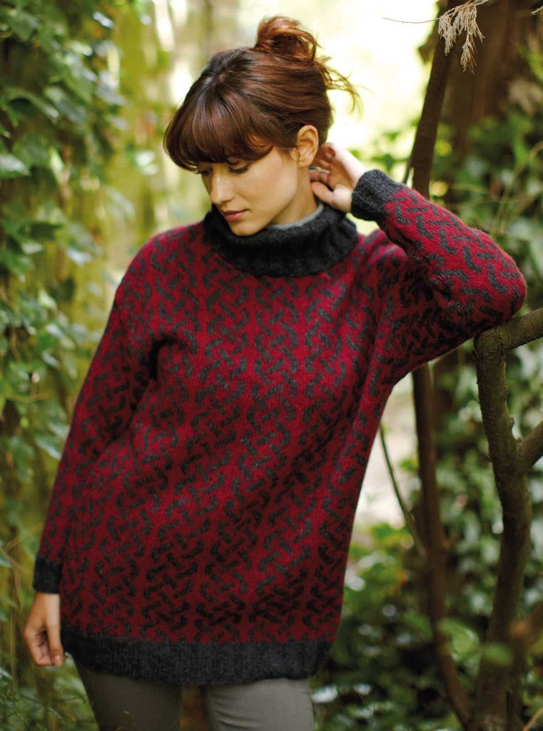 Free Knitting Pattern for a Patterned Sweater