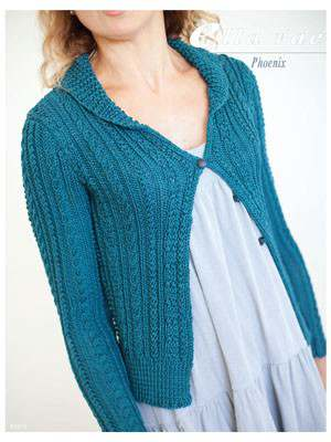 Free Knitting Pattern for a Phoenix Cable Cardigan
