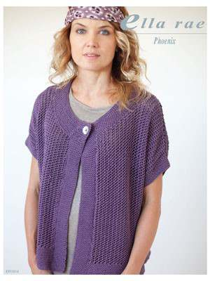 Free Knitting Pattern for a Phoenix Lace Jacket