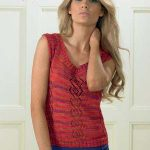 Free Knitting Pattern for a Quemchi Lace Top