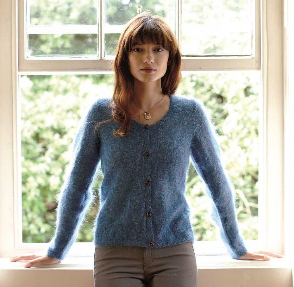 077da0622edc Free Knitting Pattern for a Round-Neck Cardigan