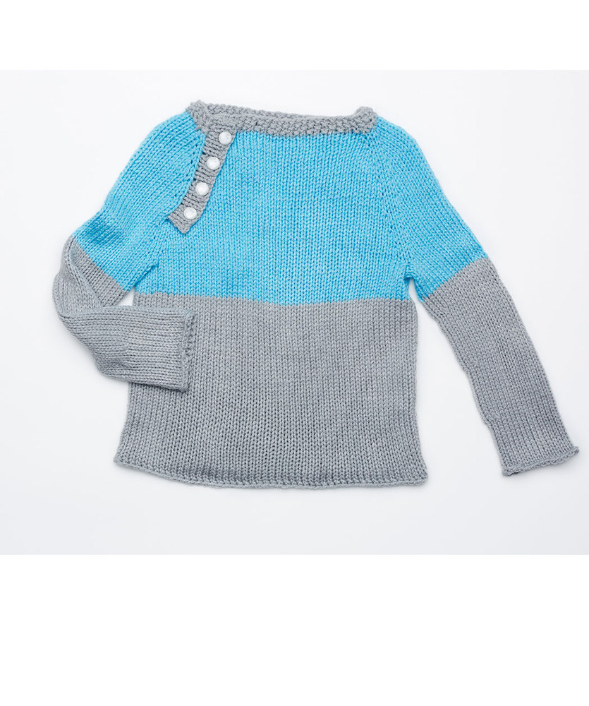 Free Knitting Pattern for a School Days Raglan Pullover