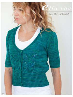Free Knitting Pattern for a Short Sleeved Lace Jacket