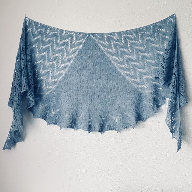 Free Knitting Pattern for a Sweet Lake Shawl