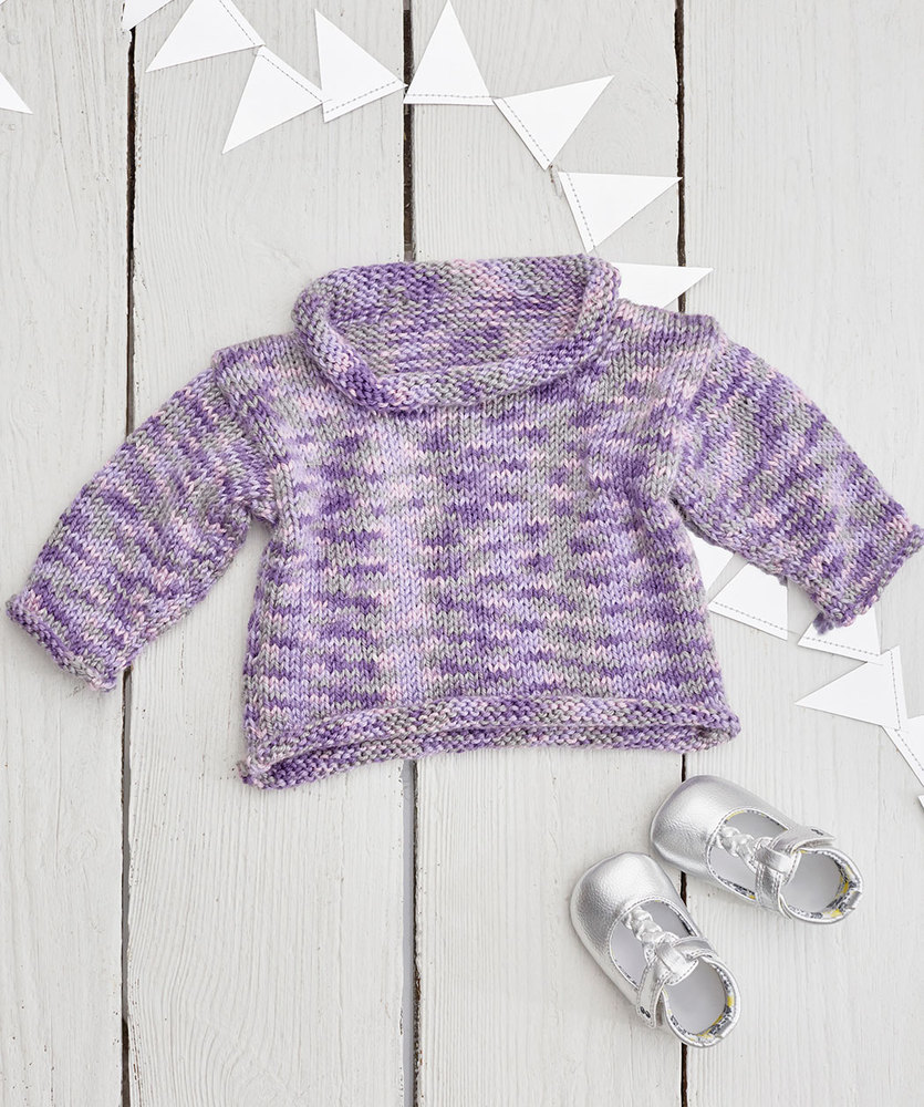 Free Knitting Pattern for a Sweet Little Baby Sweater