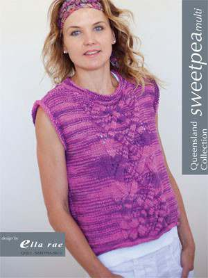 Free Knitting Pattern for a Sweet Pea Multi Cable Panel Top