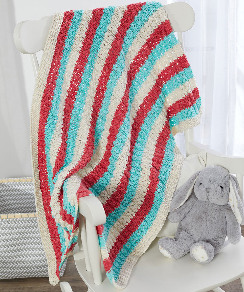 Free Knitting Pattern for a Sweet and Cozy Baby Blanket 1