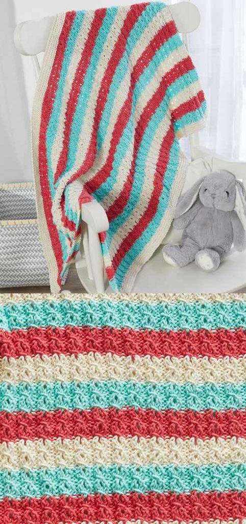 Free Knitting Pattern for a Sweet and Cozy Baby Blanket