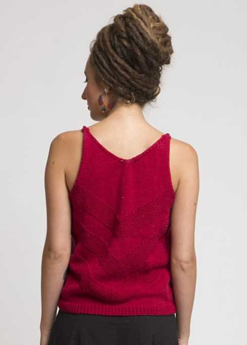 Free Knitting Pattern for a V Pattern Tank Top