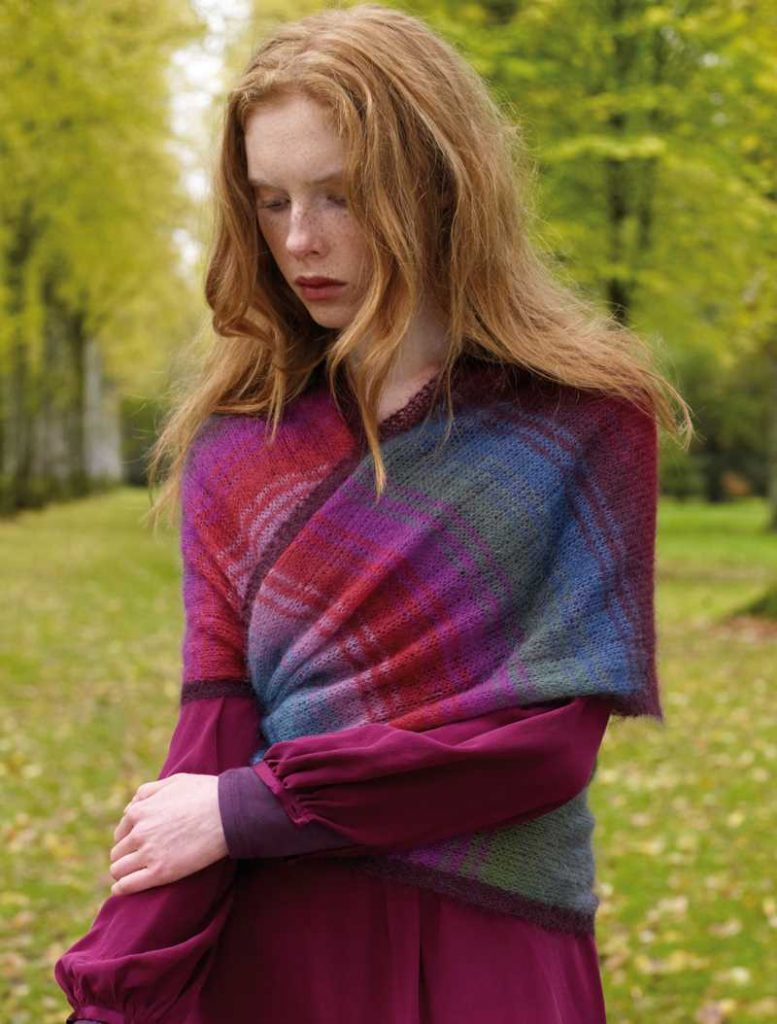 Free Knitting Pattern for an Alder Wrap