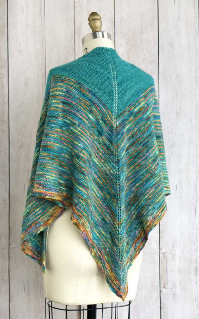 Free Knitting Pattern for an Allspice Shawl