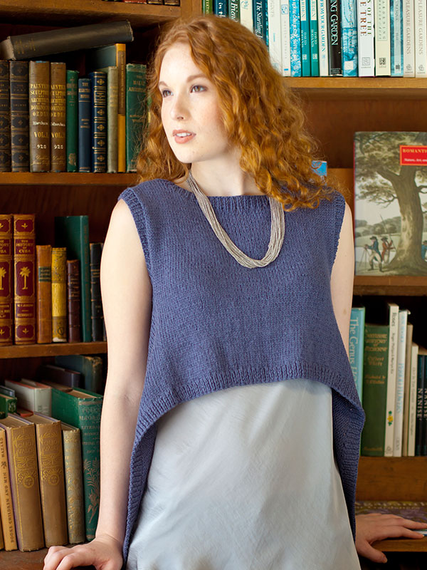 Free Knitting Pattern for an Easy High-Low Hemline Top