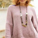 Free Knitting Pattern for an Oversized Seed Stitch Sweater