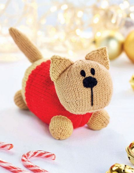 Free Toy Knitting Pattern for Lenny the Cat
