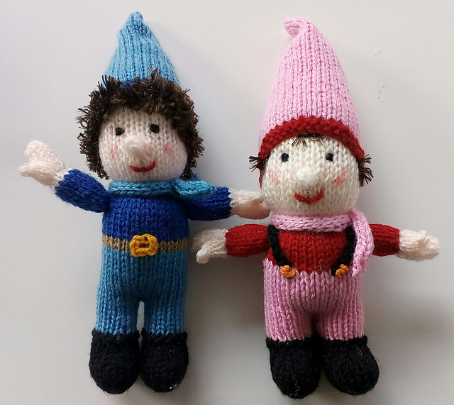 Free Toy Knitting Pattern for a Seamless Dwarf