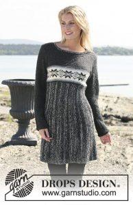 Free dress knitting pattern with Norwegian star