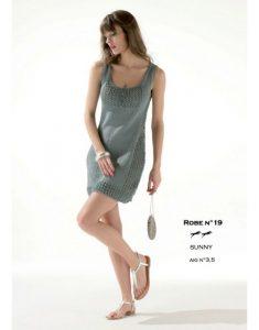 Free knitting pattern for a lace sleeveless dress