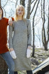 Free knitting pattern for a long cable dress