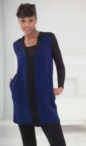 Free knitting pattern for a modern chic flattering dress